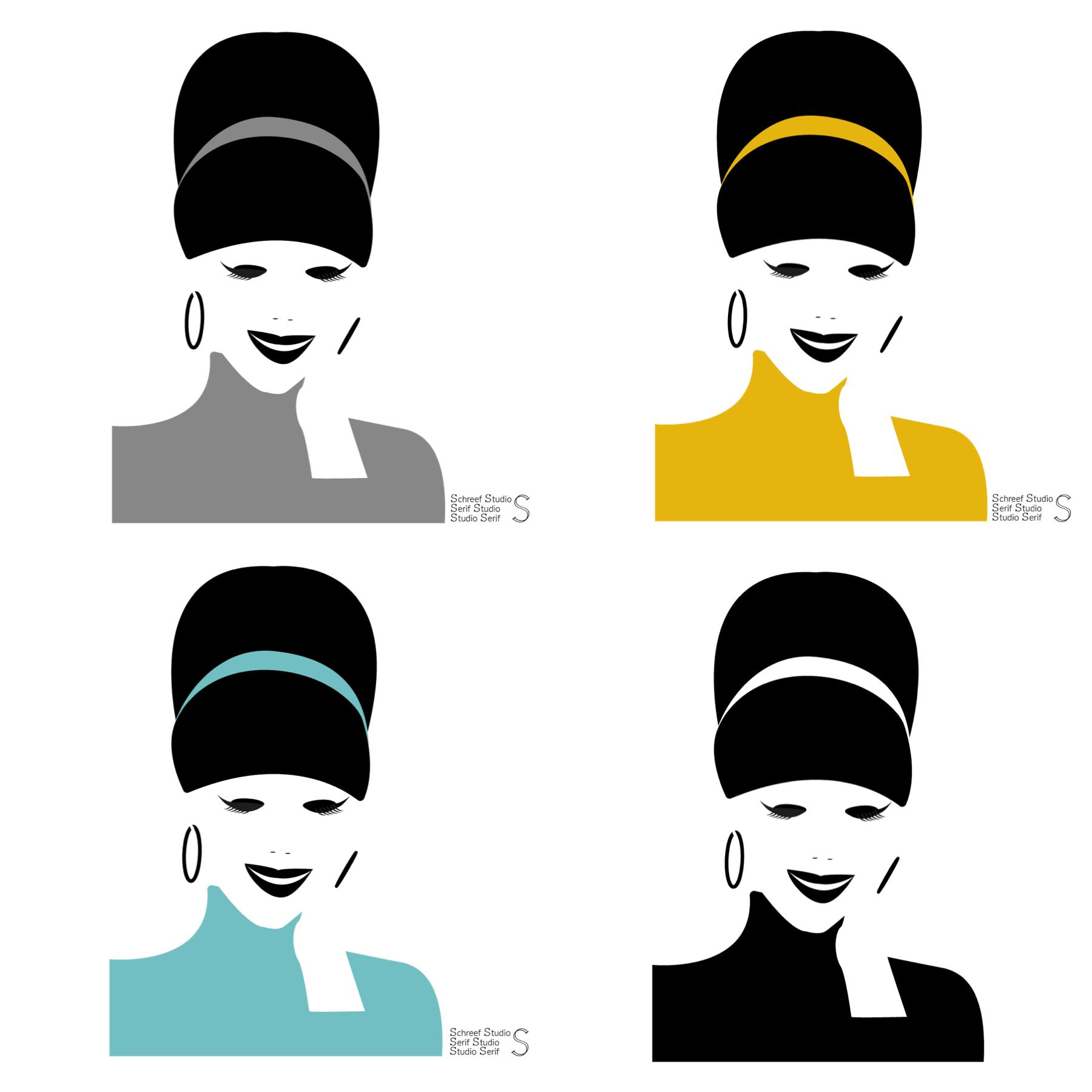 Illustration positive negative versatile lady