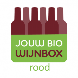 Logo design biological wine box red wine