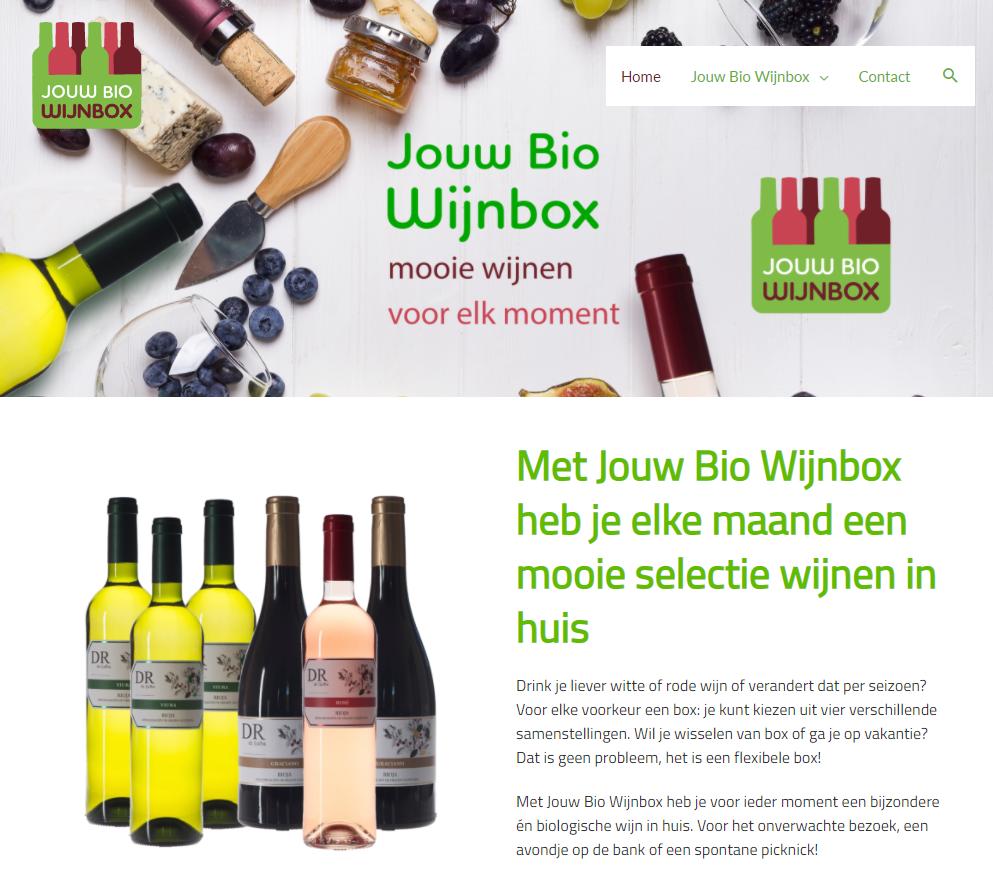 JouwBioWijnbox webdesign