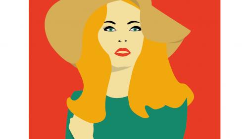 Illustration_Ladywithhat ©SchreefStudio